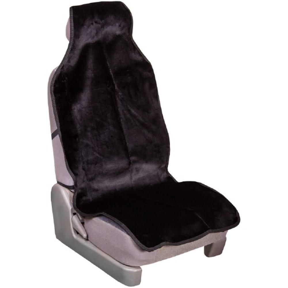 Купить Накидка сиденья skyway arctic меховая, искусственный мутон, 1 предм., черный s03001092