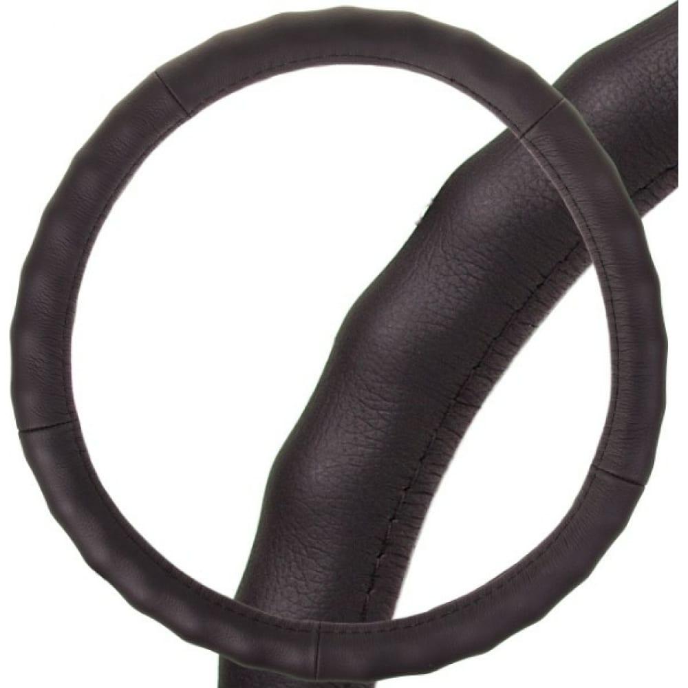 Оплетка skyway real-2 м, черная, натуральная кожа s01108003  - купить со скидкой