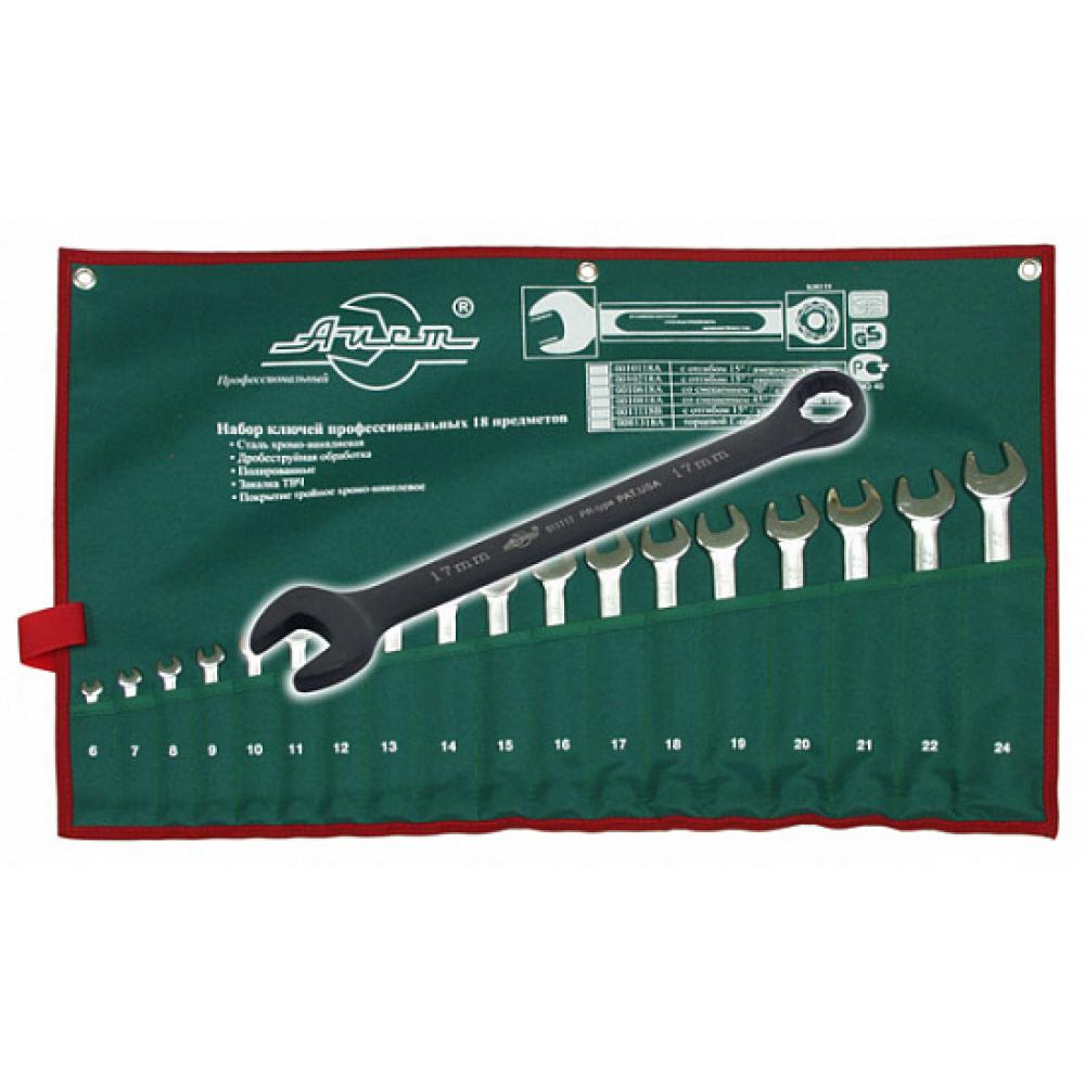 Купить Набор комбинированных удлиненных ключей aist 18 предметов 0011118 00-00014685