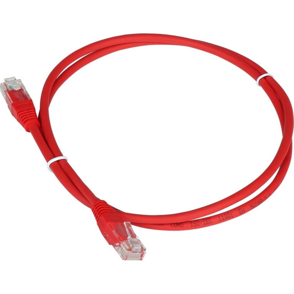 Патч-корд twt rj45-rj45, 4 пары, utp, категория 5е, 2 м, красный, 45-45-2.0-rd