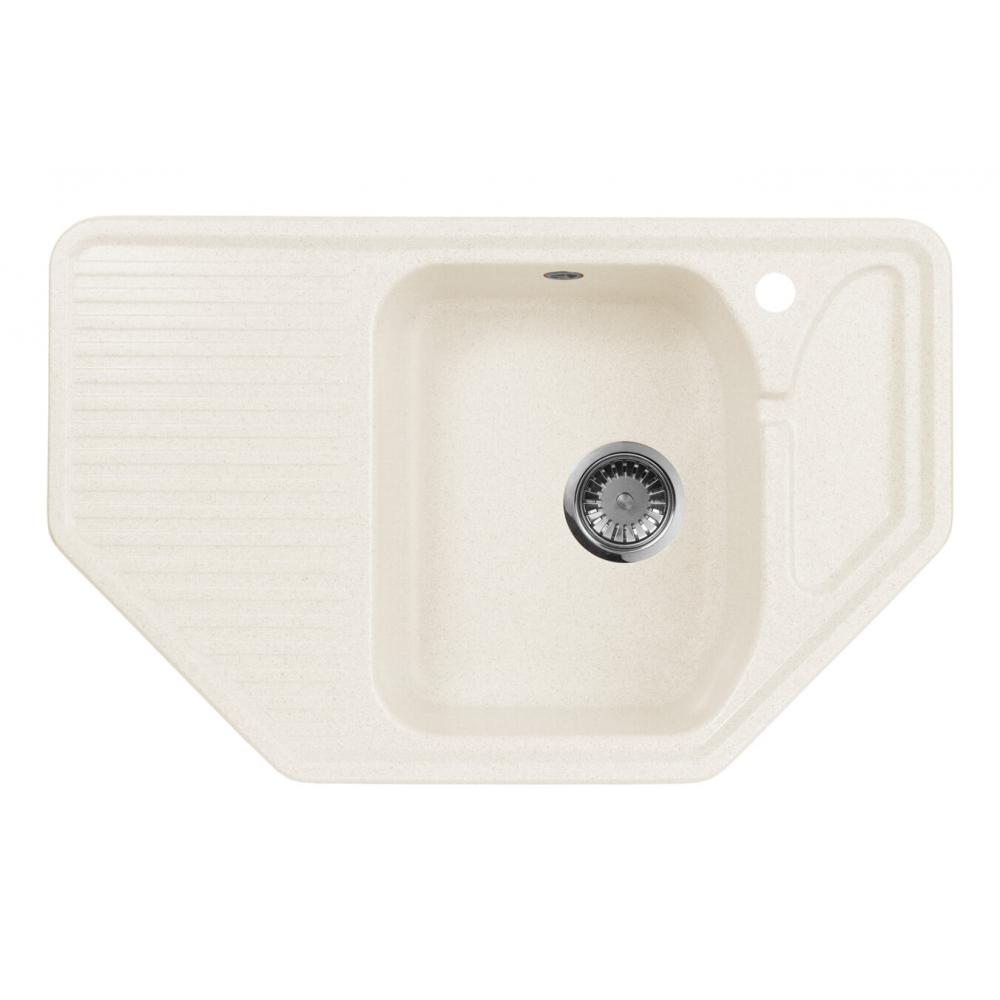 Кухонная мойка aquagranitex белый m-10 /331  - купить со скидкой