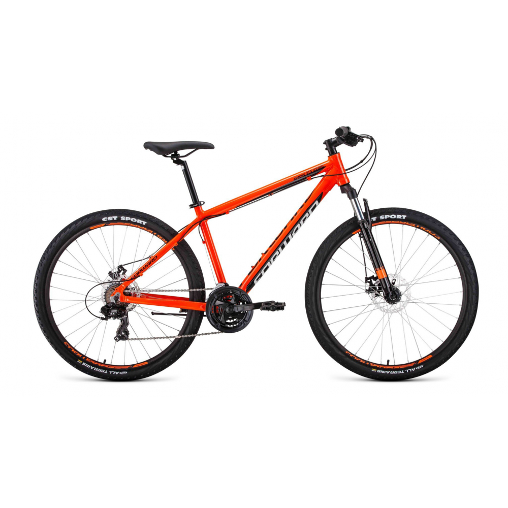 Купить Велосипед forward apache 27, 5 2.0 disc, рост 19, 2019-2020, оранжевый/черный, rbkw0m67q034