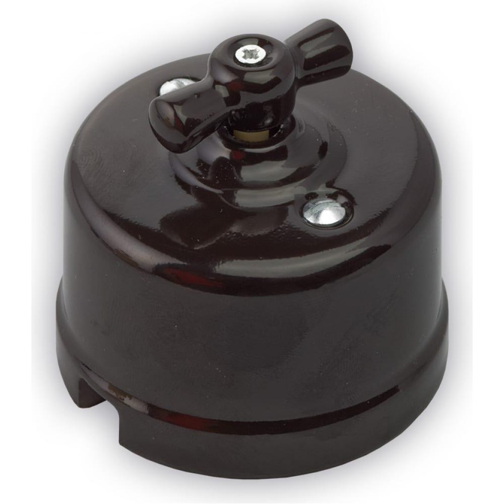 Двухклавишный выключатель retrika цвет черный r-sw-28