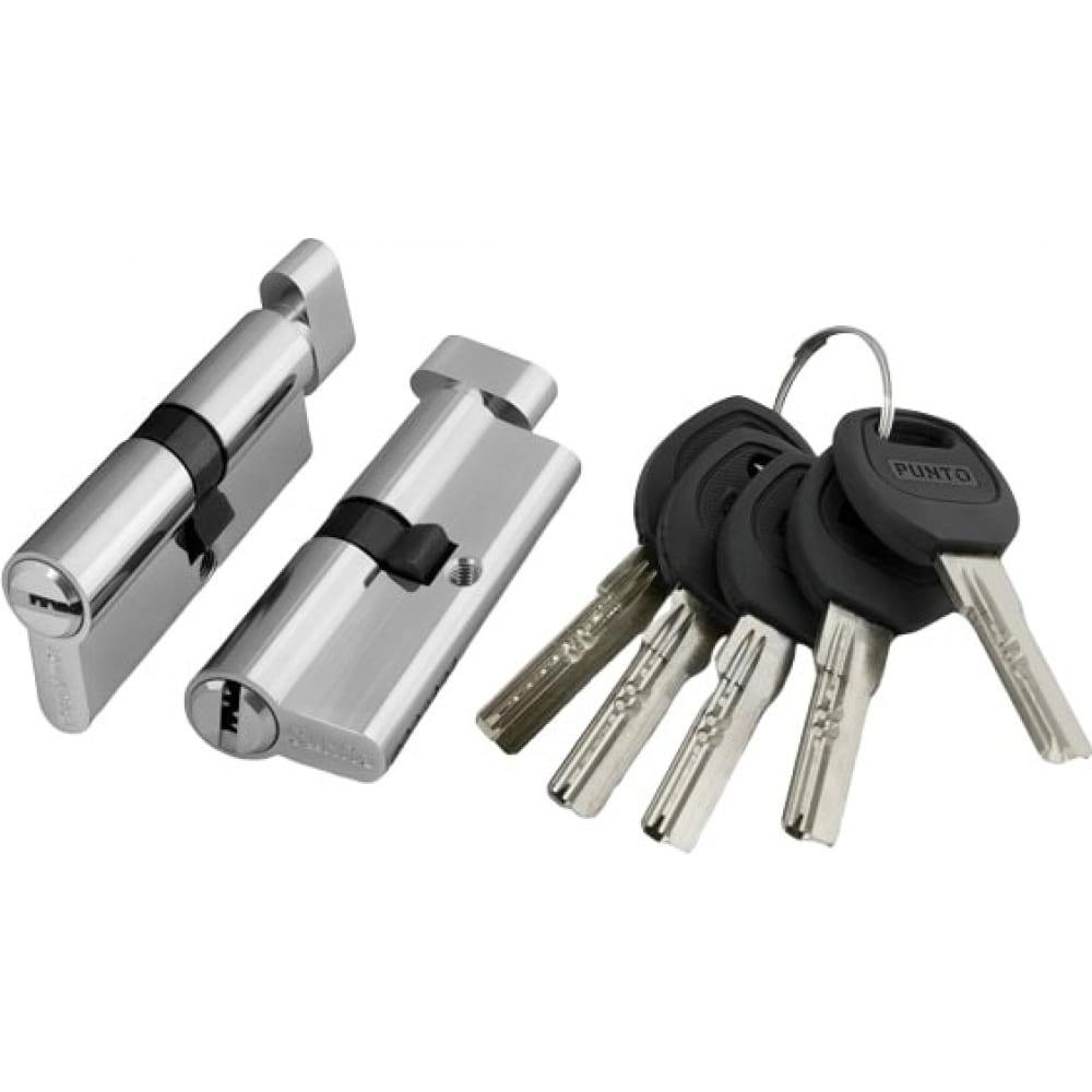 Купить Цилиндровый механизм с вертушкой punto a202/120 mm 65+10+45 sn мат. никель 5 кл. 33951
