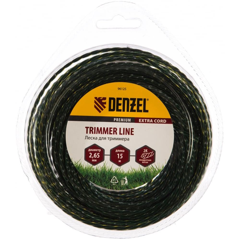 Купить Двухкомпонентная леска для триммера квадрат 2, 65 мм 15 м extra cord denzel 96125