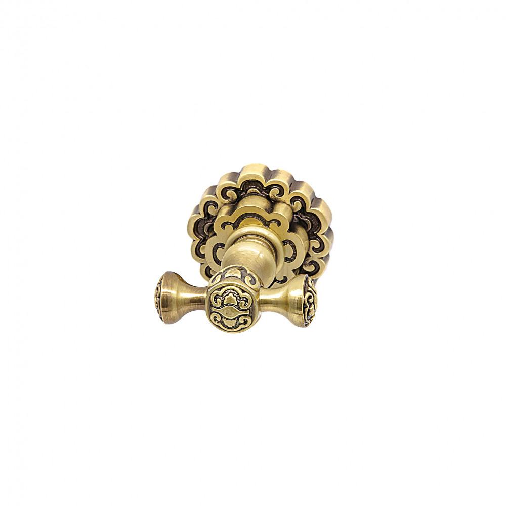 Купить Крючок для полотенца двойной milacio, бронза коллекция villena mc.902.br
