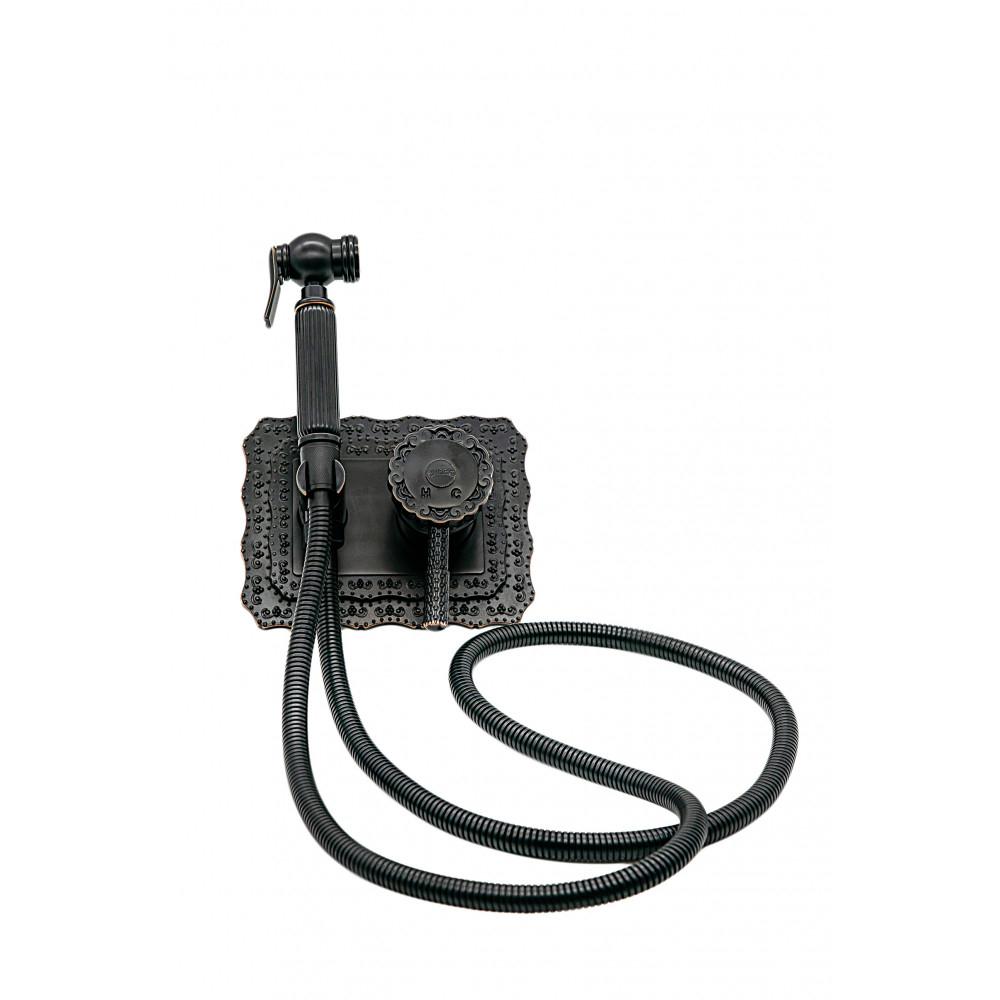 Купить Гигиенический душ milacio скрытого монтажа, чёрная бронза коллекция vitoria mc.800.bbr