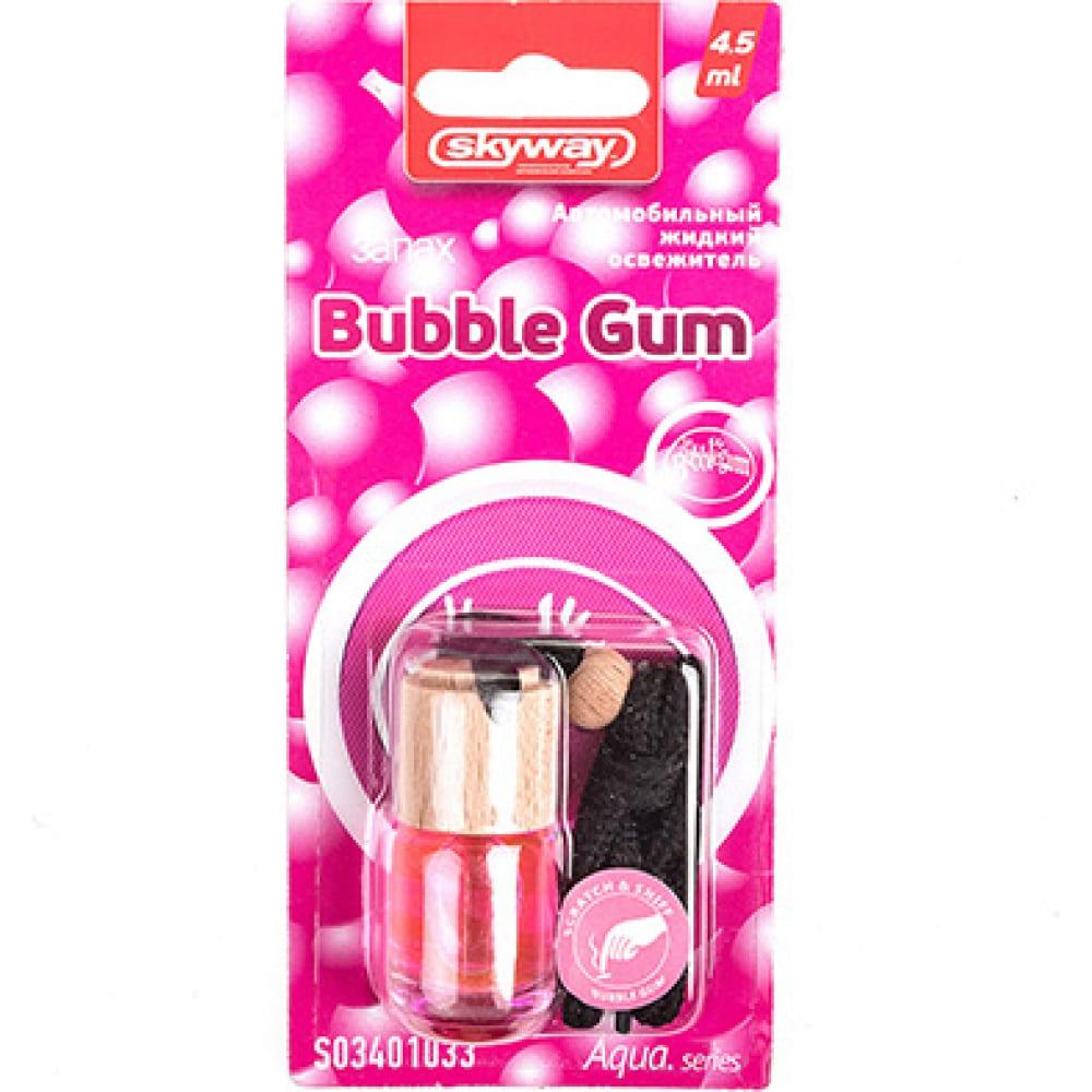 Купить Подвесной ароматизатор - бутылочка с деревянной крышкой skyway aqua.series 5 мл, bubble gum s03401033