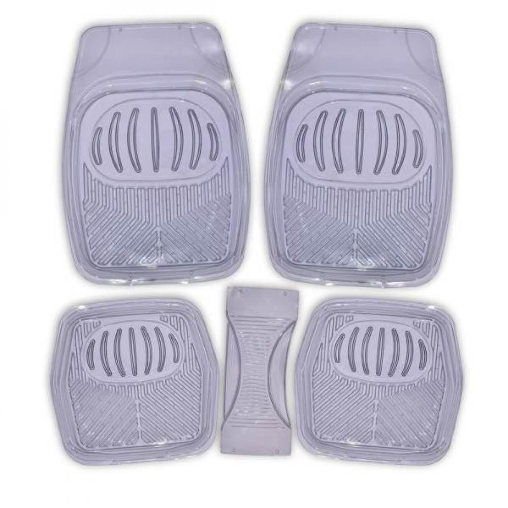 Купить Коврик салона skyway rain-1 5 предметов, с перемычкой, ванночка, виниловый, серый, прозрачный s01702044