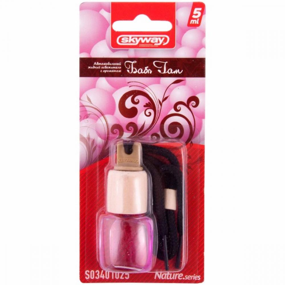 Купить Подвесной ароматизатор - бутылочка с деревянной крышкой skyway nature.series 5 мл, баббл гам s03401025
