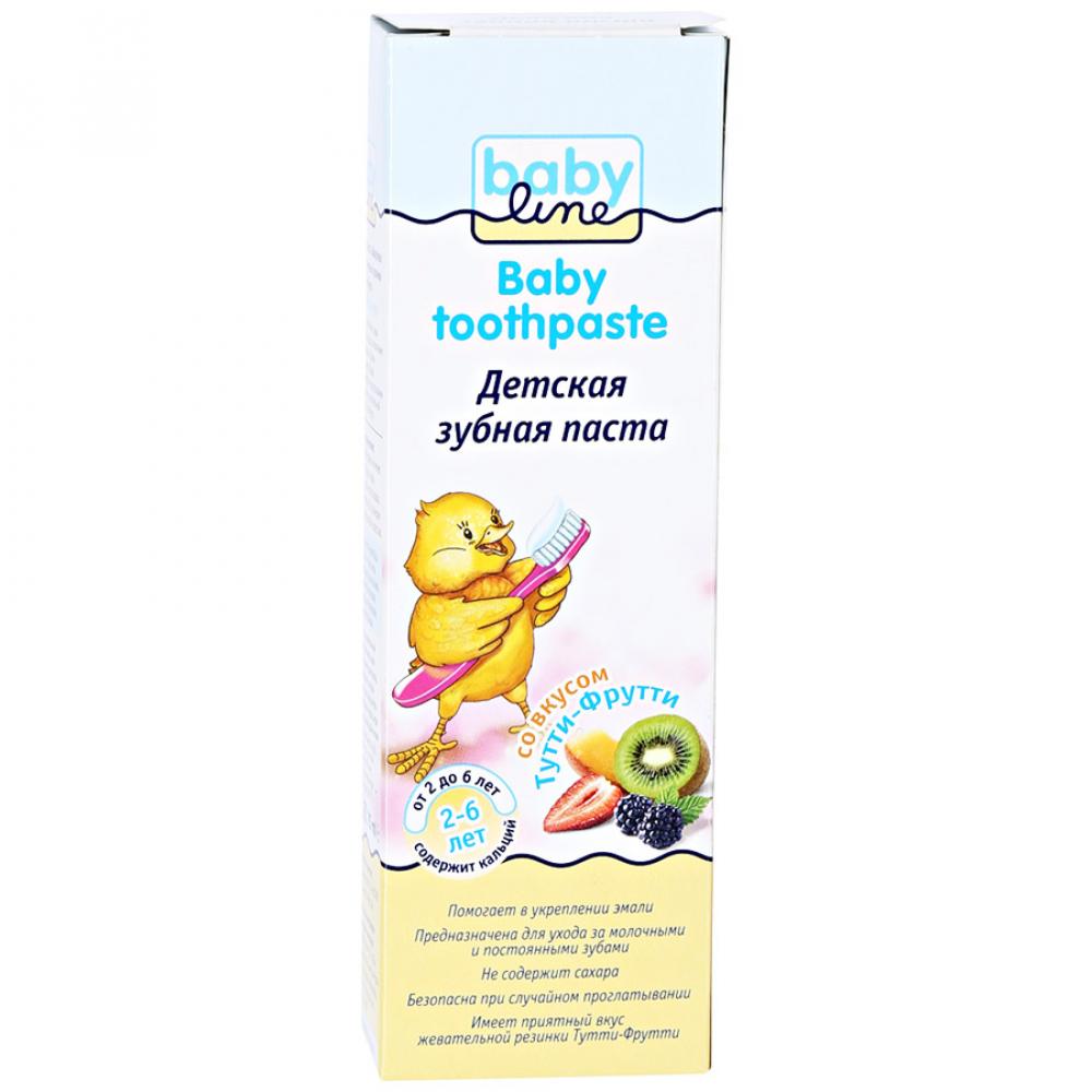 Купить Детская зубная паста babyline со вкусом тутти - фрутти, 75 мл db013