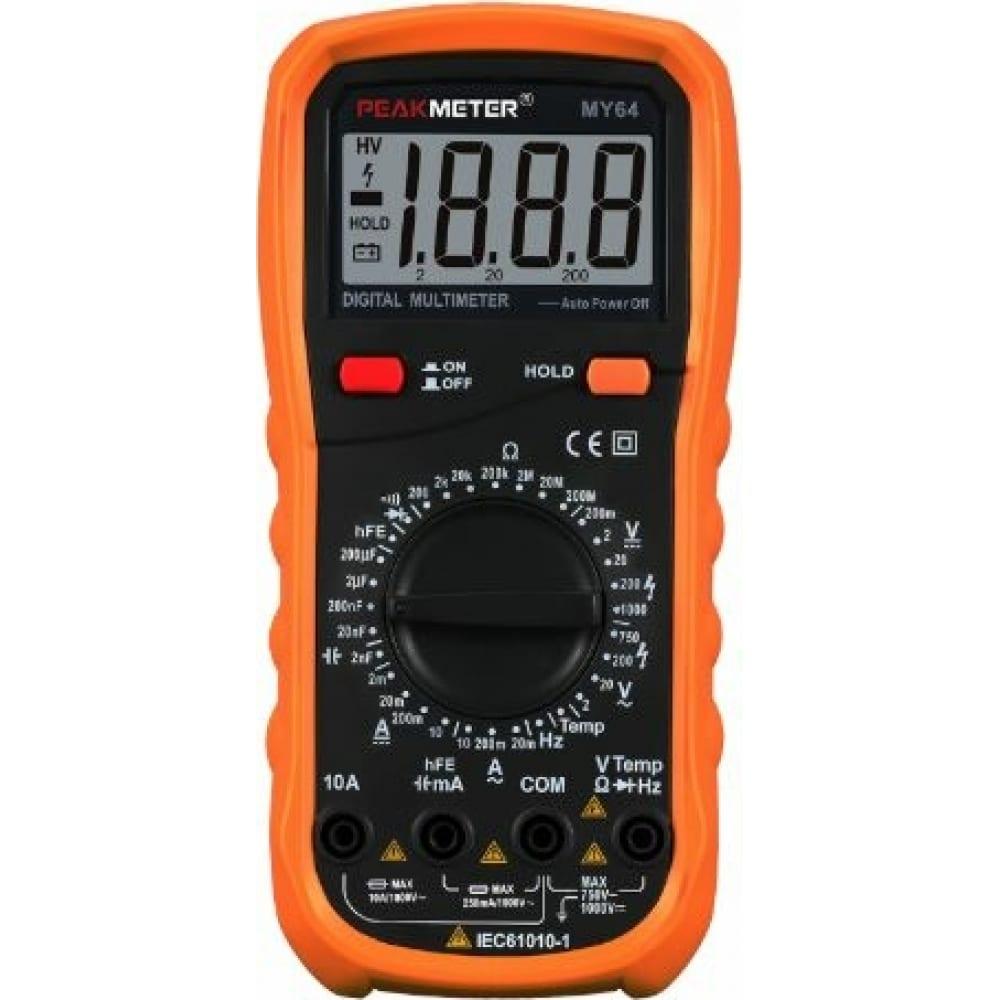 Цифровой мультиметр peakmeter pm64 17118