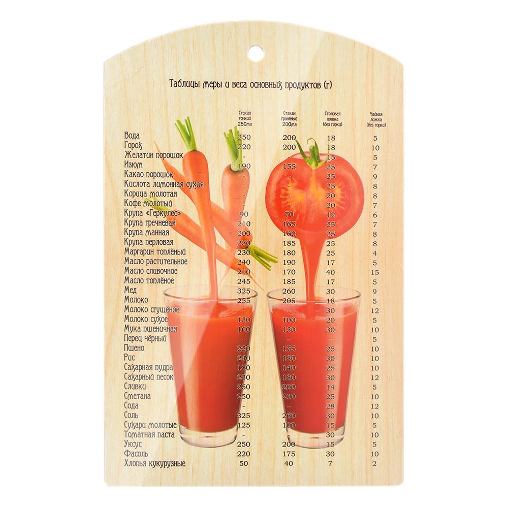 Разделочная деревянная доска marmiton овощной коктейль 17038