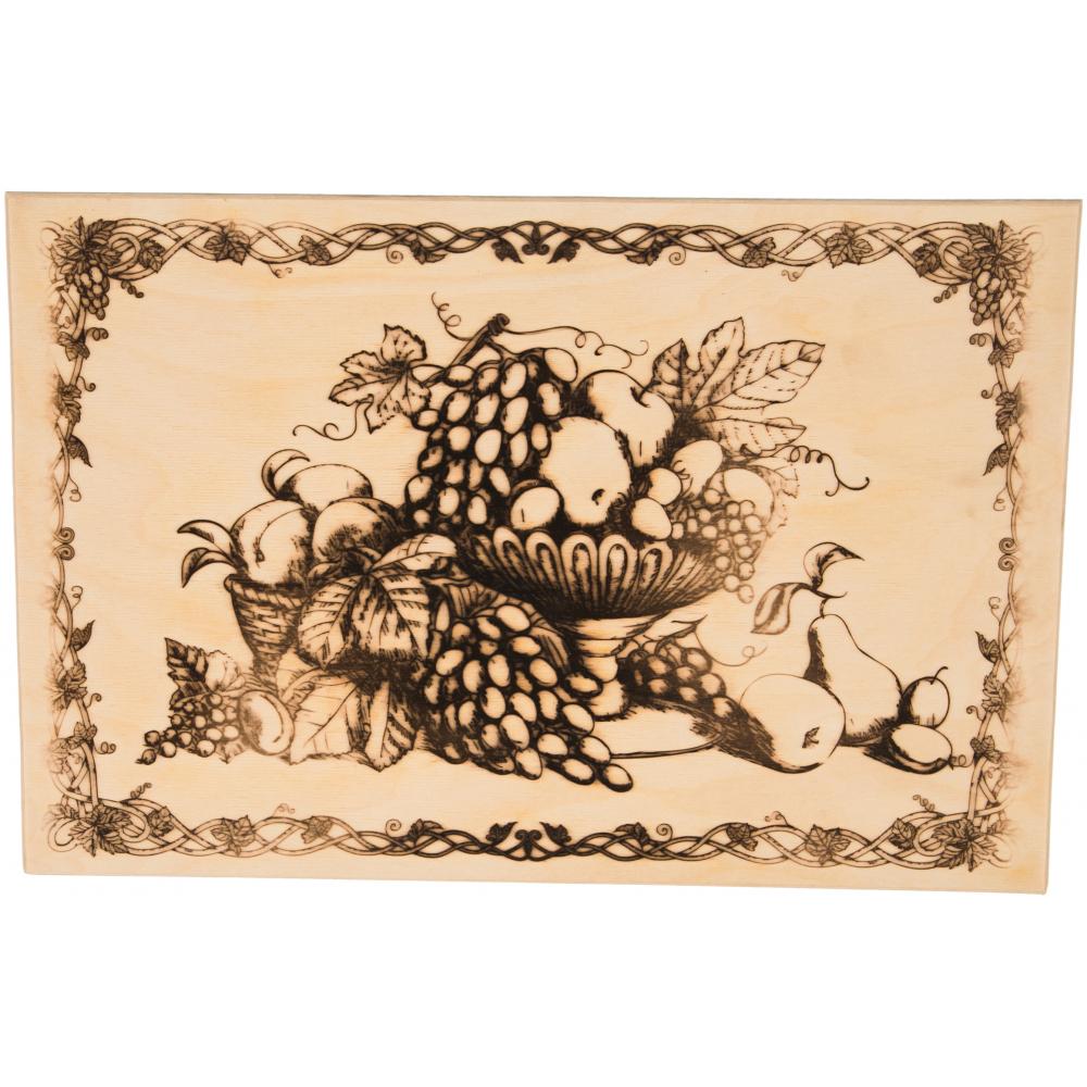 Разделочная деревянная доска marmiton натюрморт 37,5х25