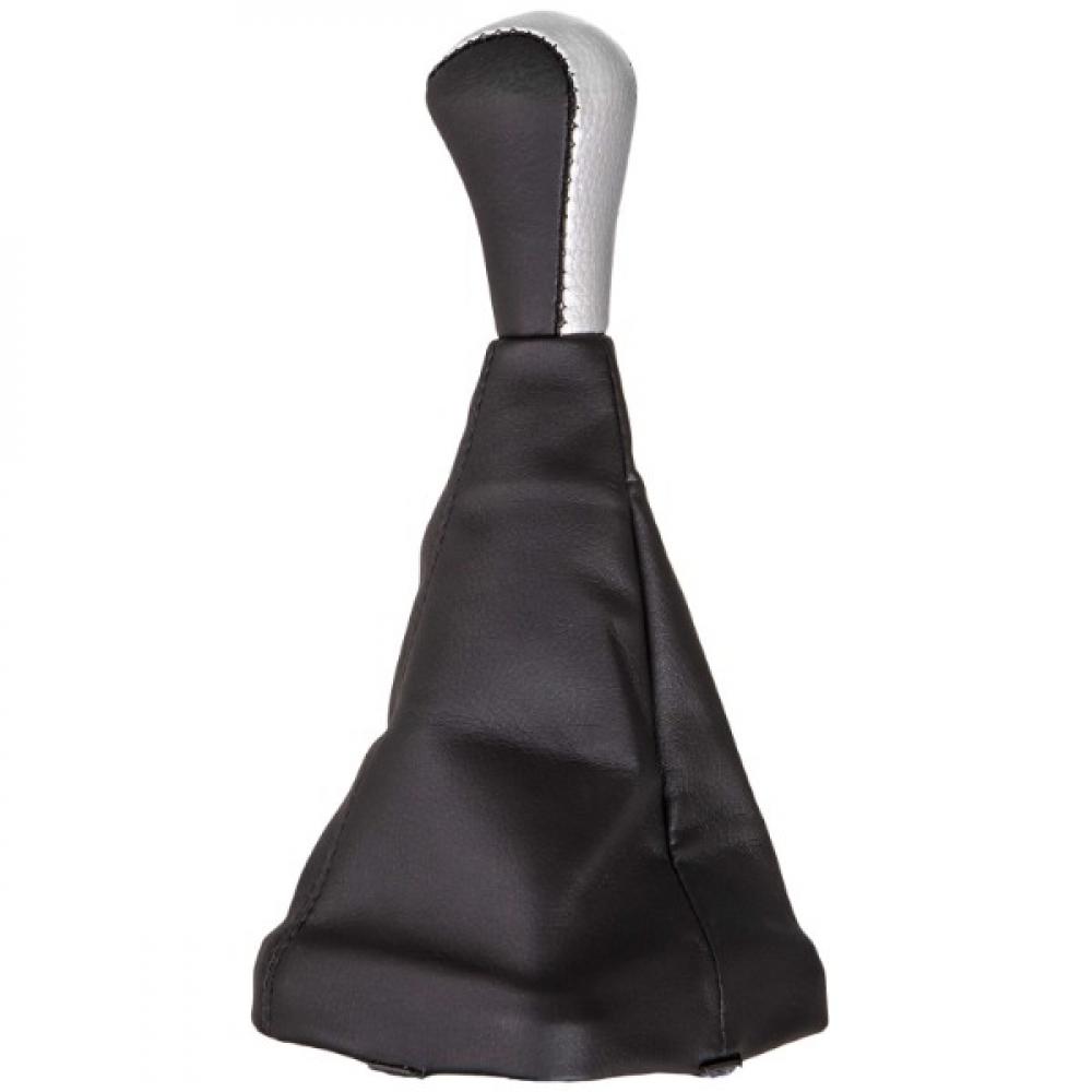 Купить Ручка кпп skyway ваз 2115, с чехлом, иск. кожа, черная с серебряной вставкой s06202030