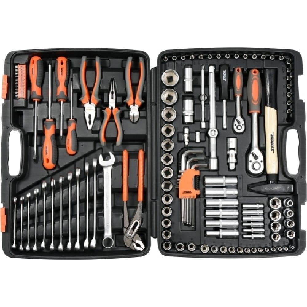 Купить Набор инструментов sthor 1/2 122 предмета пластиковый кейс 58690