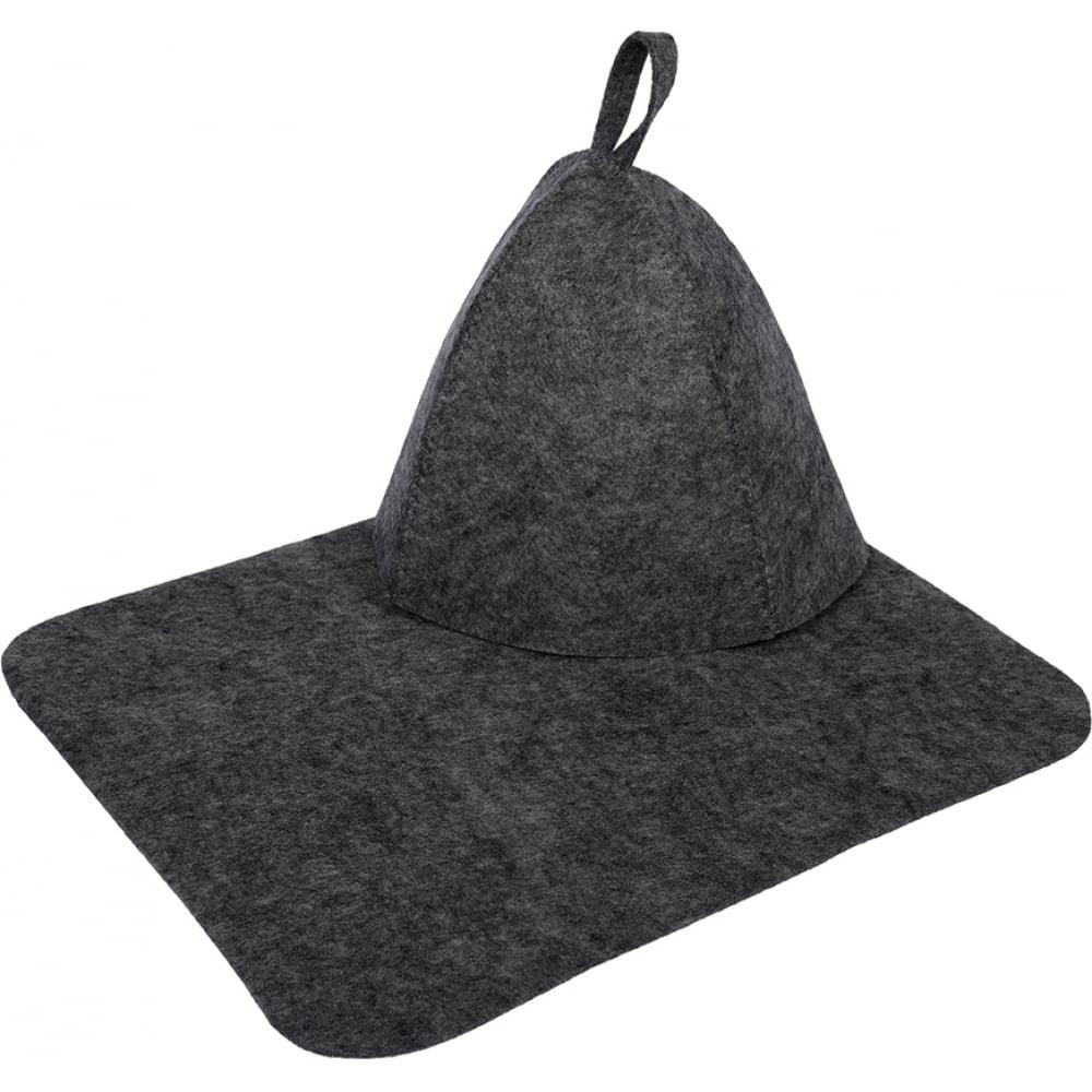 Купить Набор из двух предметов hot pot шапка, коврик, серый 41183