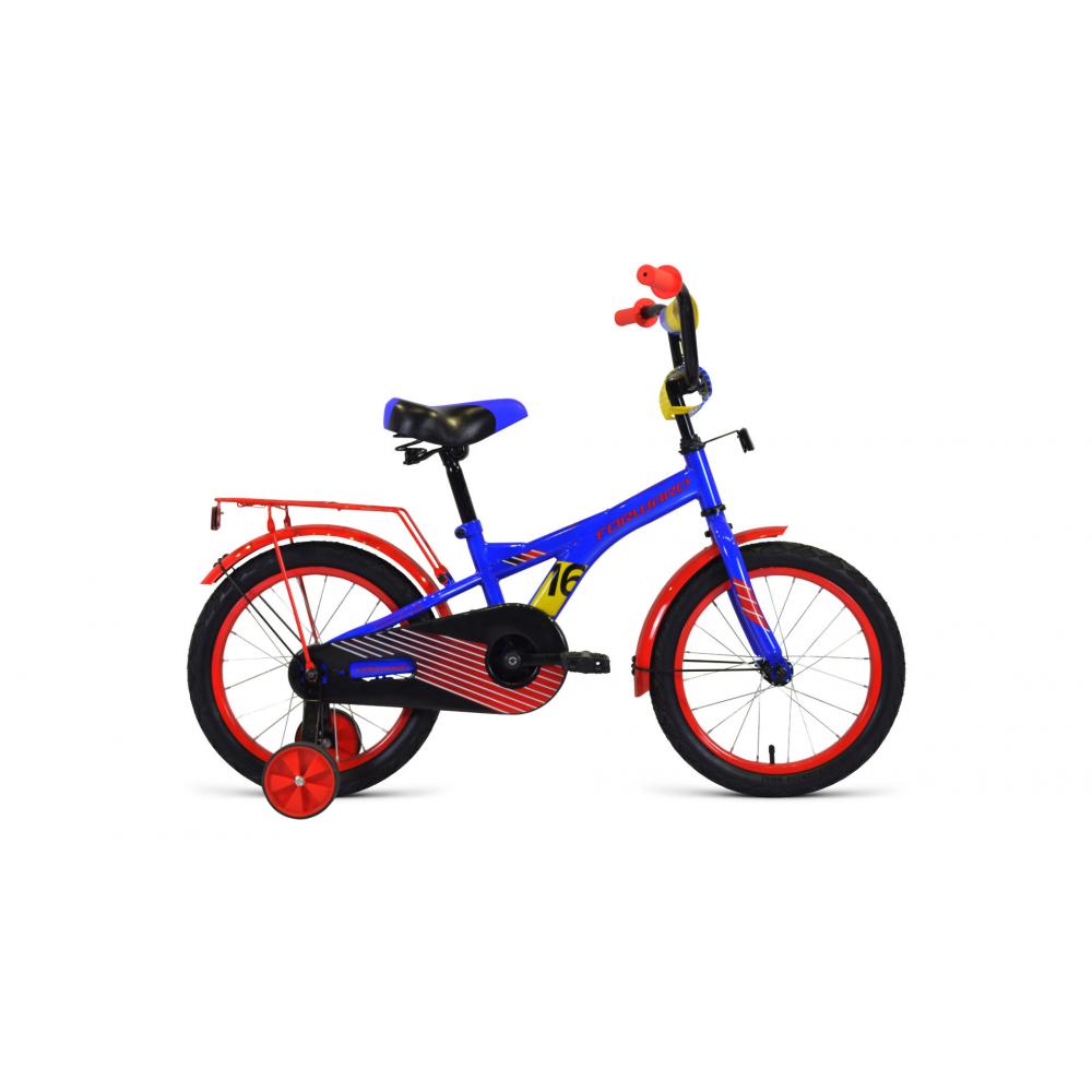 Велосипед forward crocky 16, 2019 2020, синий/красный,