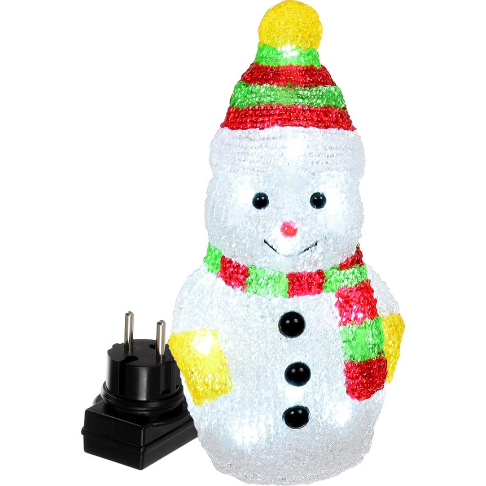 Фигура снеговик vegas акриловая 55102
