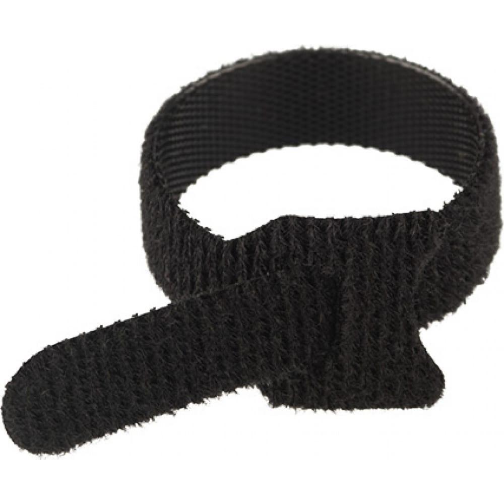 Купить Многоразовый хомут–липучка rexant 150х12 мм, черный упак. 12 шт. 07-7156