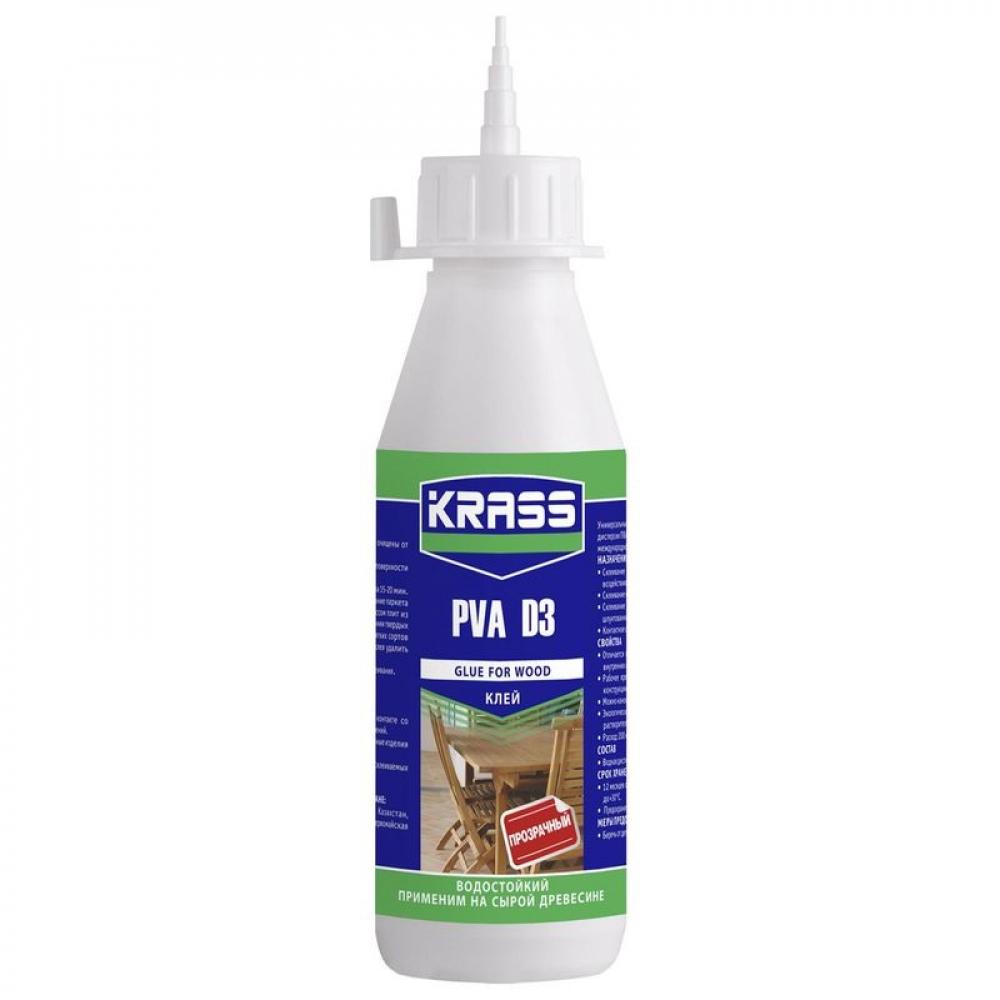 Купить Водостойкий клей krass pva d3 для древесины 0, 5 л 90003546824