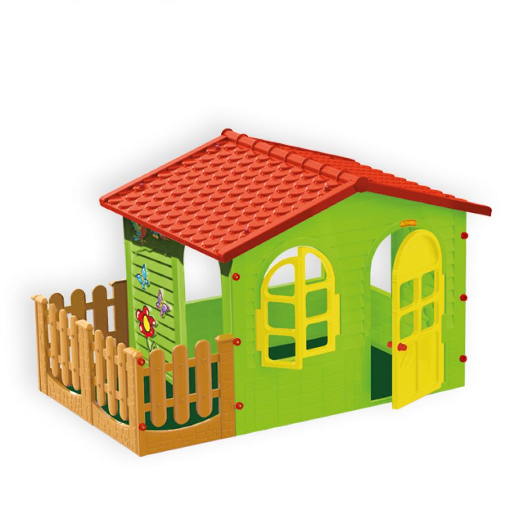 Садовый домик с забором mochtoys 10498 сг000002476