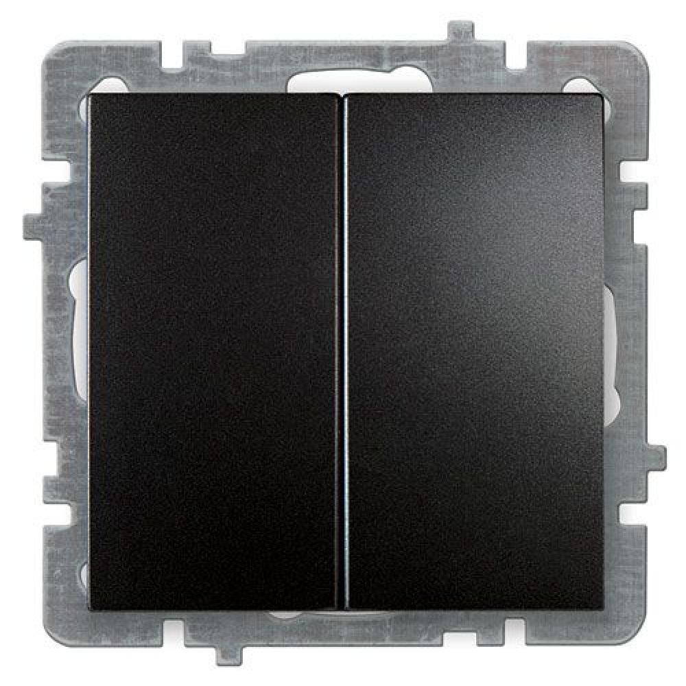 Купить Выключатель nilson selene 2 клавишный черный 23221003