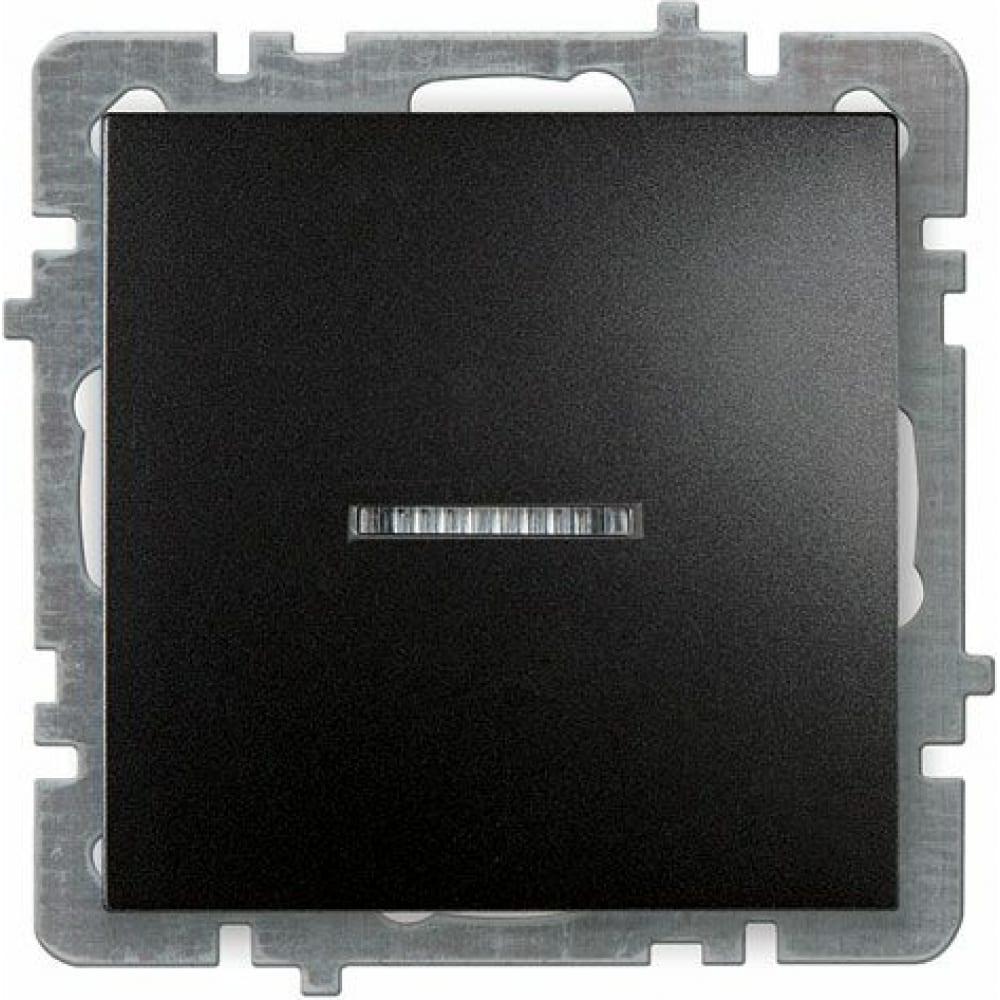 Купить Выключатель nilson selene 1 клавишный с подсветкой черный 23221002