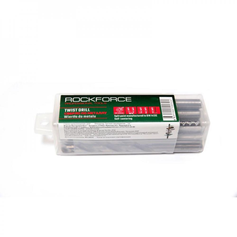 Купить Сверло по металлу (10 шт; 3.5 мм; hss; пластиковый футляр) rockforce rf-dsp35