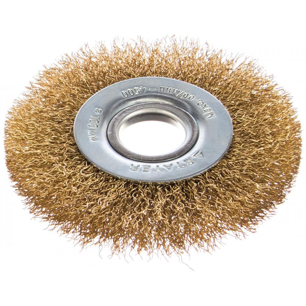 Щетка дисковая professional (100х22 мм; витая стальная