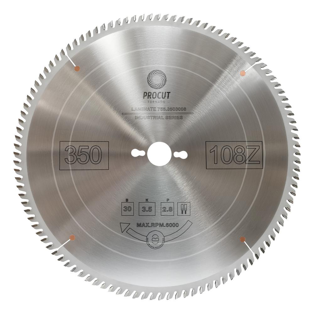 Купить Диск отрезной для ламината и мдф (350x30x3.5/2.8 мм; z=108 tfz) procut 755.3503008