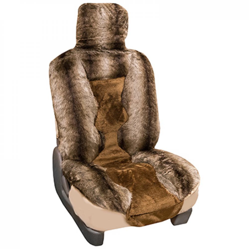 Купить Чехлы на сиденья skyway меховые, искусственный мутон, 5 предметов s03001072
