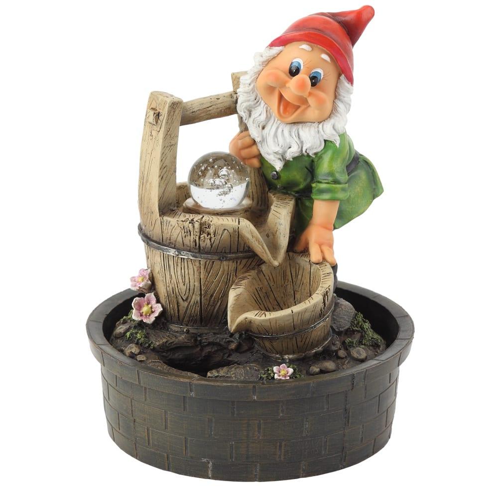 Купить Настольный фонтан green apple ganf02 гном хозяин 31 см б0043458