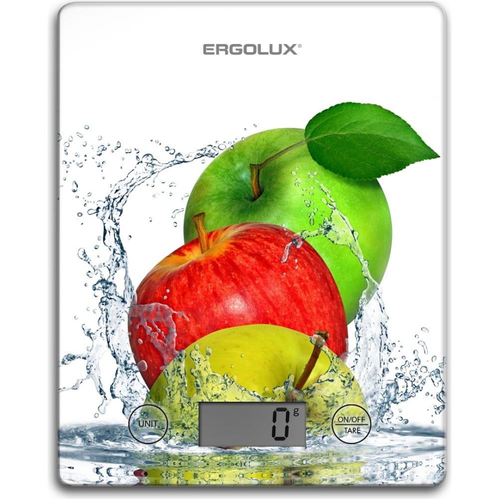 Купить Кухонные весы ergolux elx-sk02-с01 белые, яблоки до 5 кг, 195*142 мм 13602