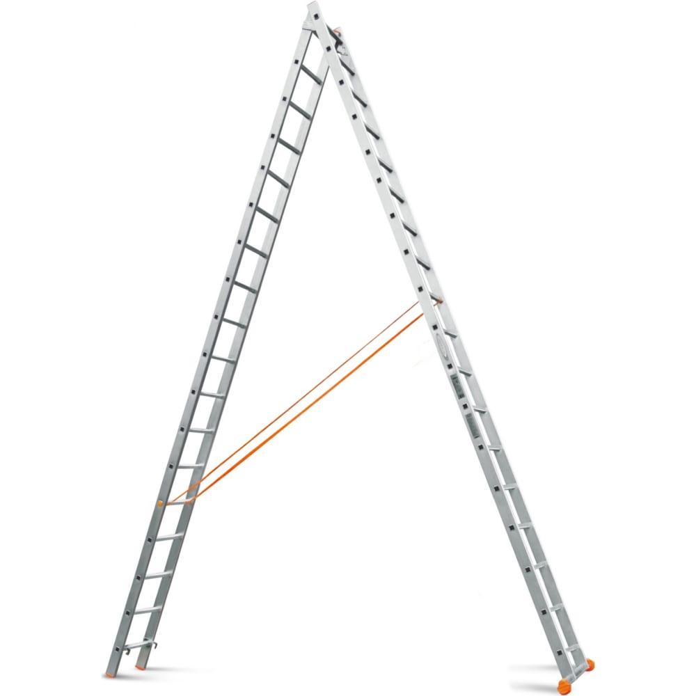 Двухсекционные лестницы эйфель классик 2x18
