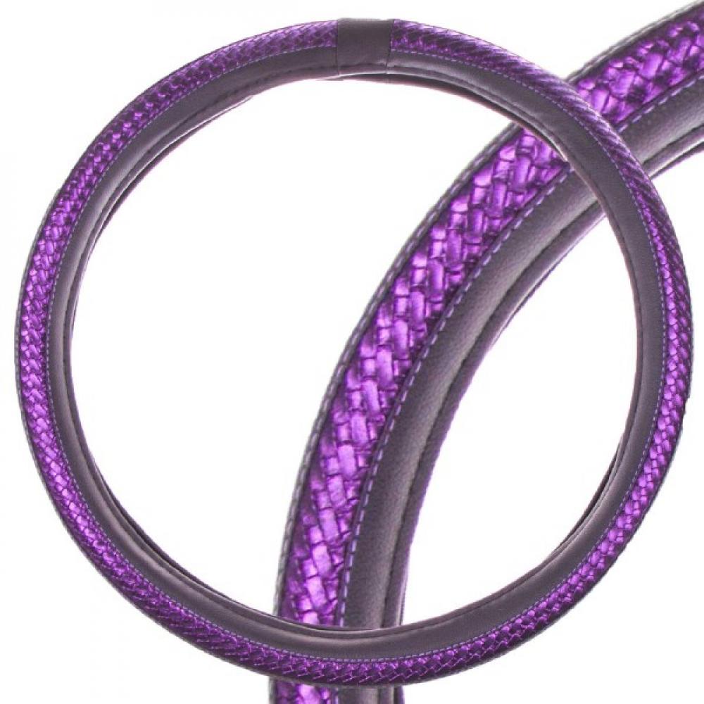 Купить Оплетка skyway luxury-1 l, черно-фиолетовая, экокожа s01102375