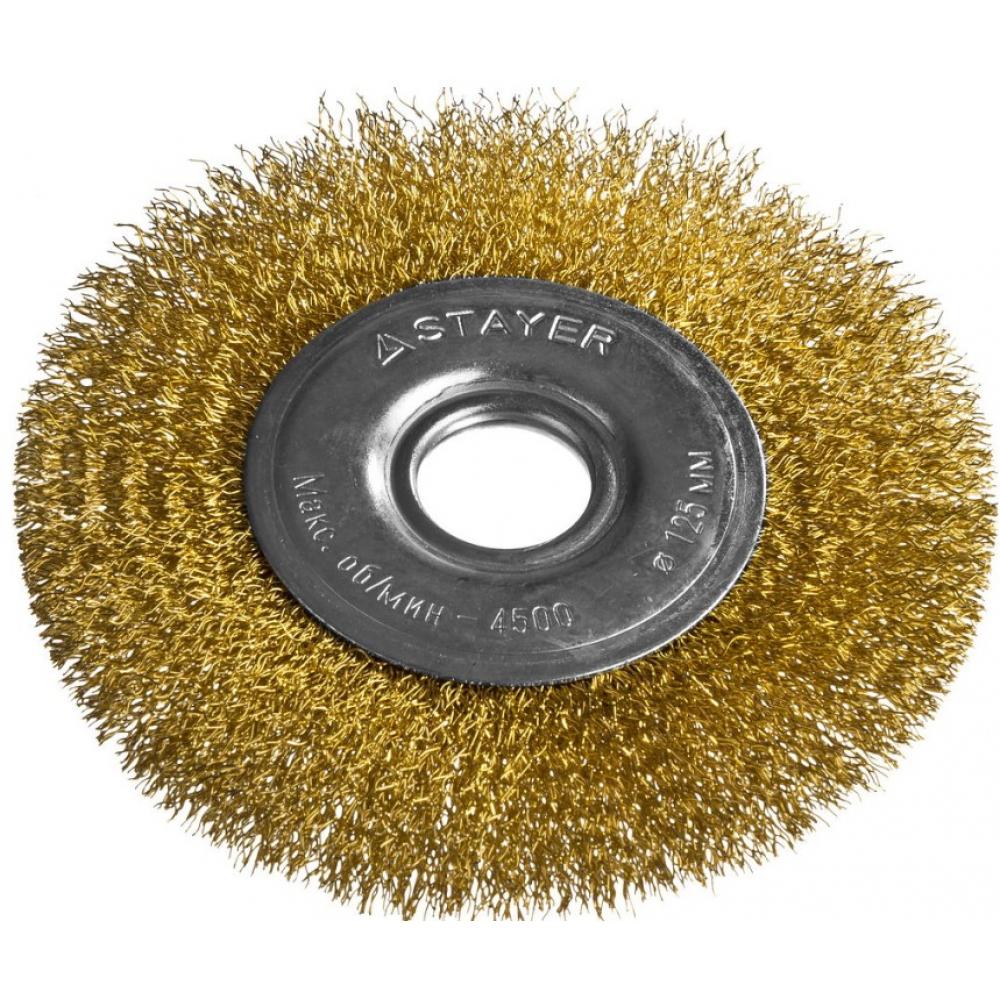Щетка дисковая professional (125х22 мм; витая стальная