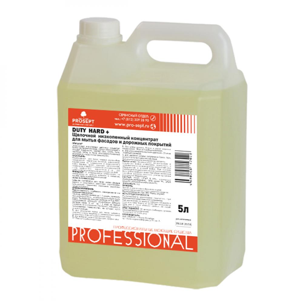 Купить Щелочный низкопенный концентрант для мытья фасадов и дорожных покрытий duty hard prosept, 5л 278-5