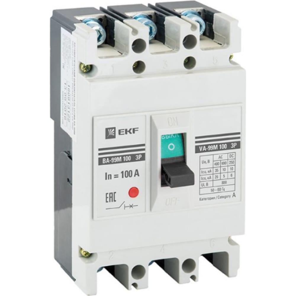 Автоматический выключатель ekf proxima ва-99м, 100/25а, 3p, 35ка, sq mccb99-100-25m