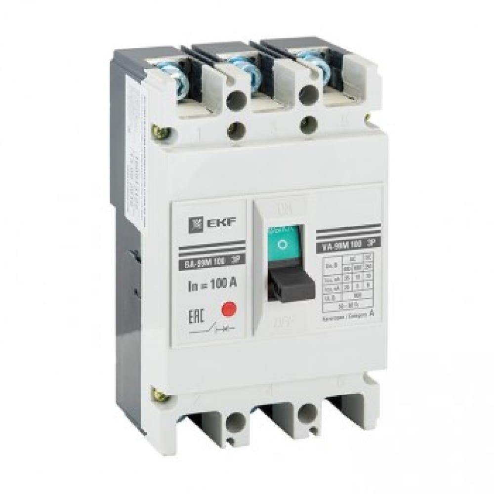 Автоматический выключатель ekf ва-99м 100/16а 3p 35ка proxima sqmccb99-100-16m