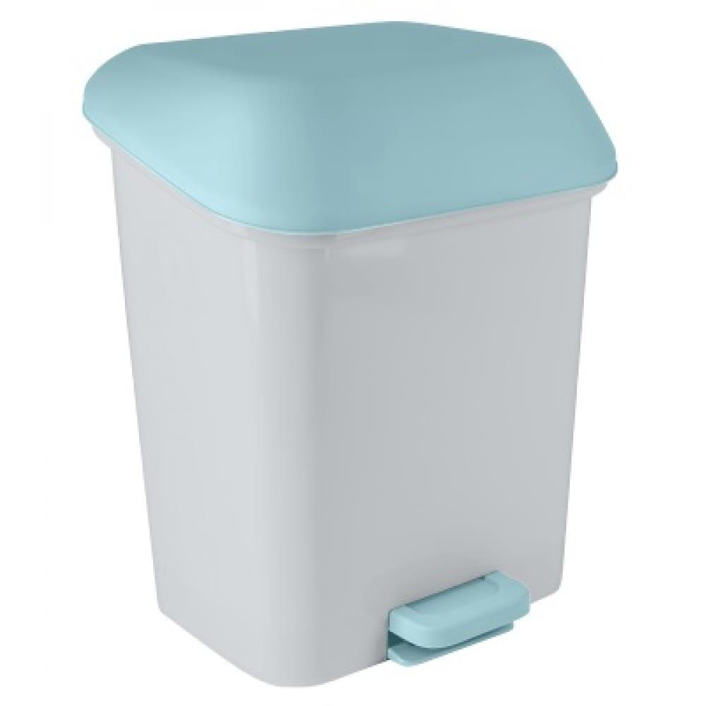 Купить Контейнер для мусора с педалью svip квадра 15 л, небесный sv4061нбс