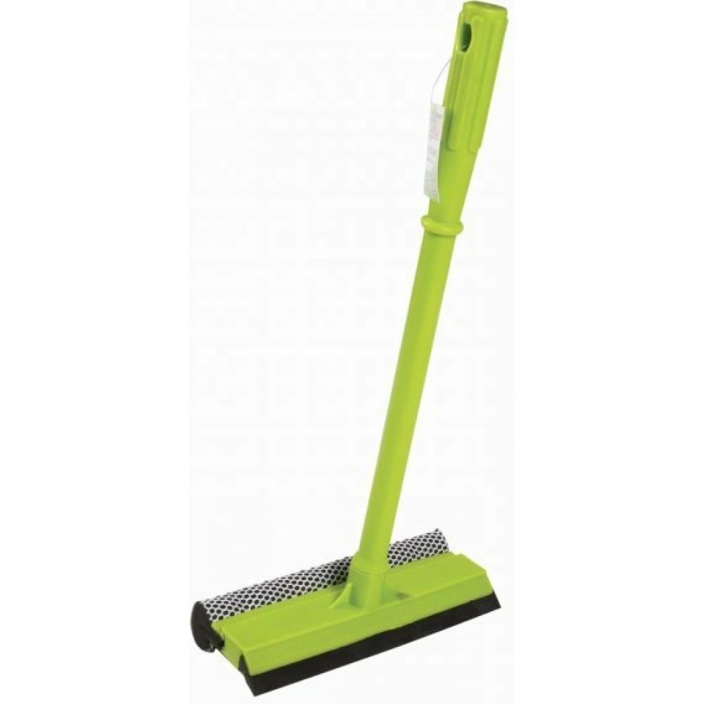 Стекломойка любаша пластиковая ручка 40 см, рабочая часть 20 см стяжка, губка, ручка 603614  - купить со скидкой