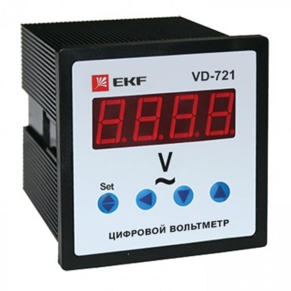 Однофазный цифрофой вольтметр ekf vd-721 на панель proxima sqvd-721