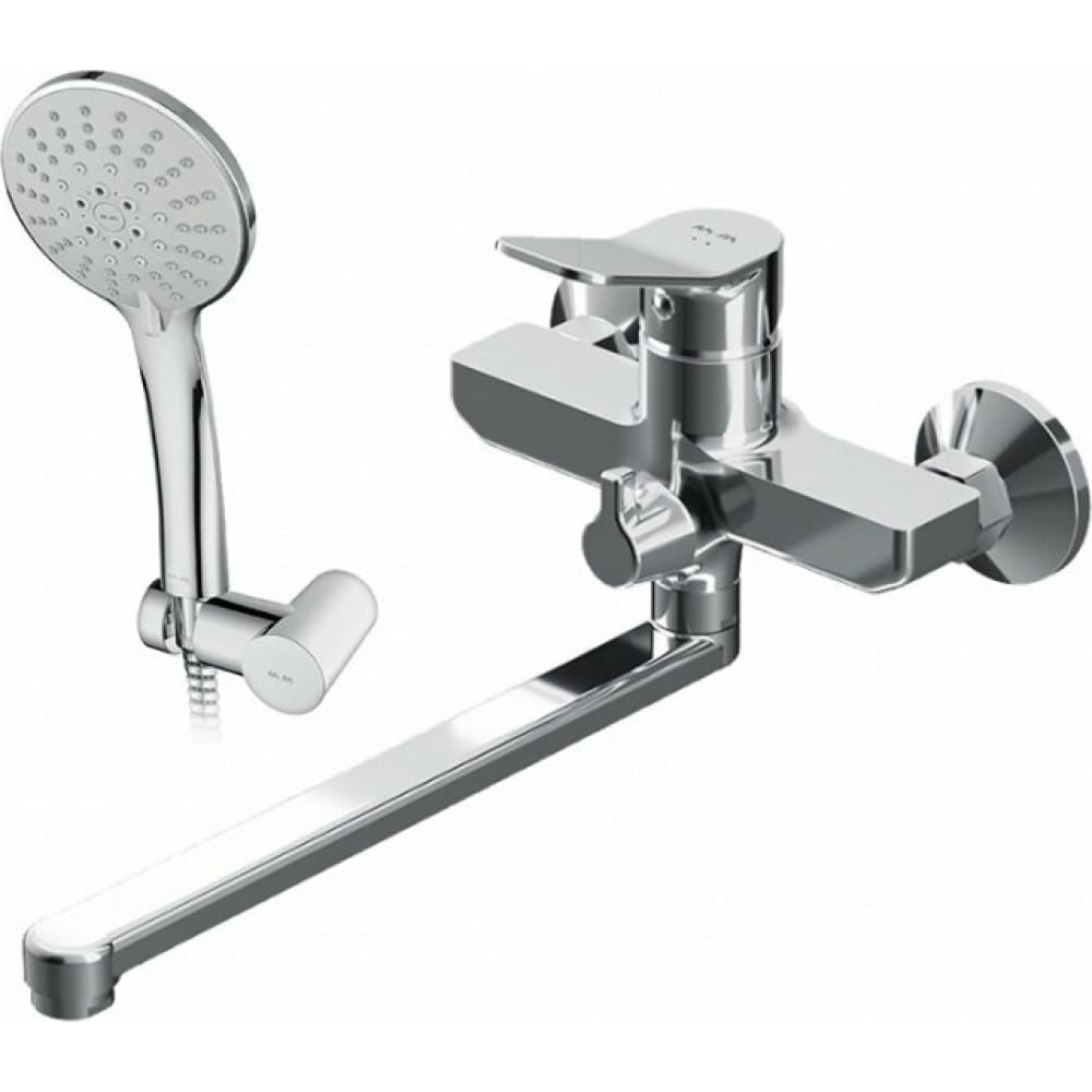 Купить Смеситель для ванны и душа am.pm x-joy излив 300 мм, душевой набор, хром, f85a95000
