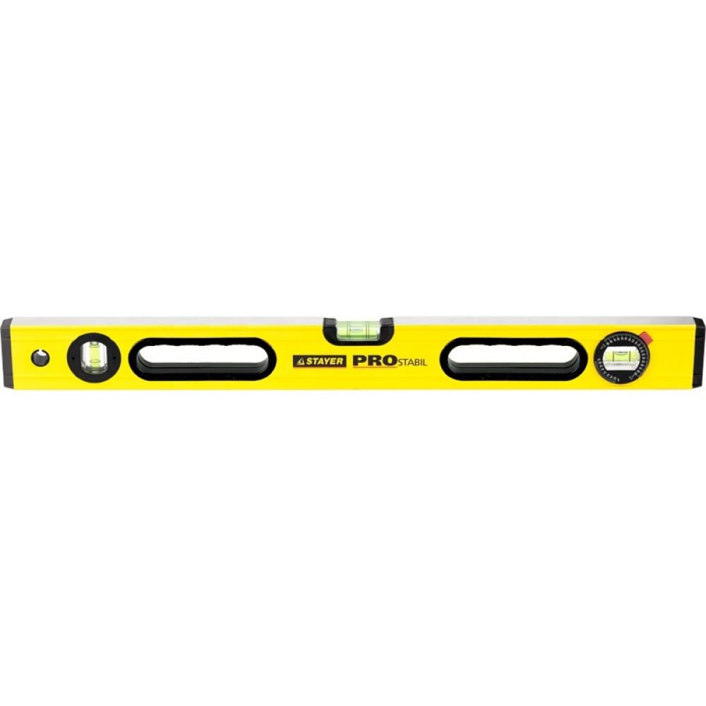 Уровень stayer profi prostabil professional, коробчатый, усилен, 2 фрезер поверх, 3 ампулы 1 поворотная , ручки, 120 см 3471-120_z01