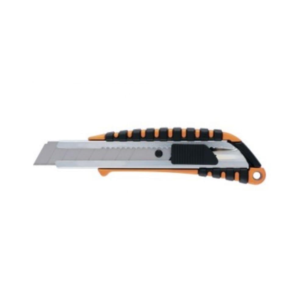 Купить Нож, 18 мм выдвижное лезвие металлическая направляющая, двухкомпонентный корпус sparta 78982