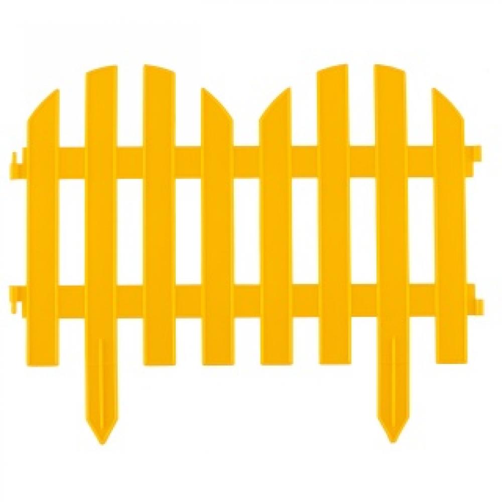 Купить Декоративный забор романтика , 28x300 см, желтый palisad россия 65023