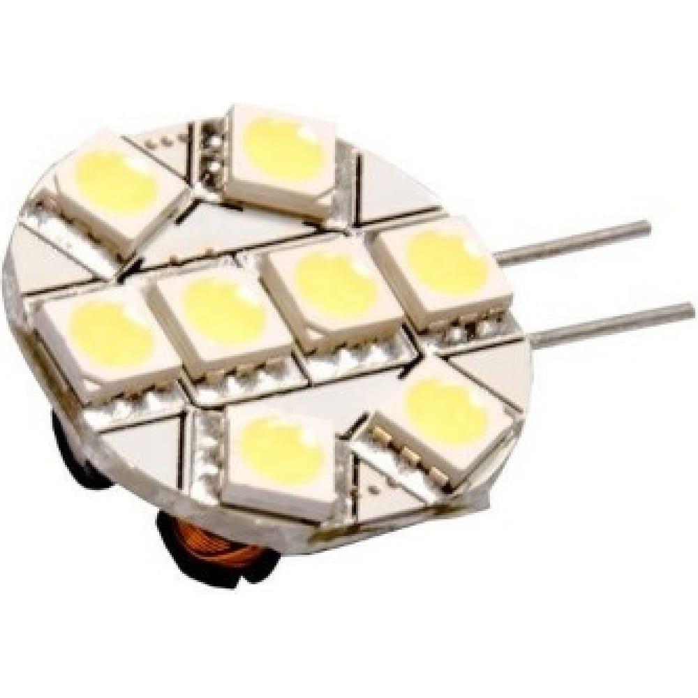 Купить Автолампа диод skyway g4, 8 smd диодов, 1-контактная, белая, габариты, стопы sg4-8smd-5050