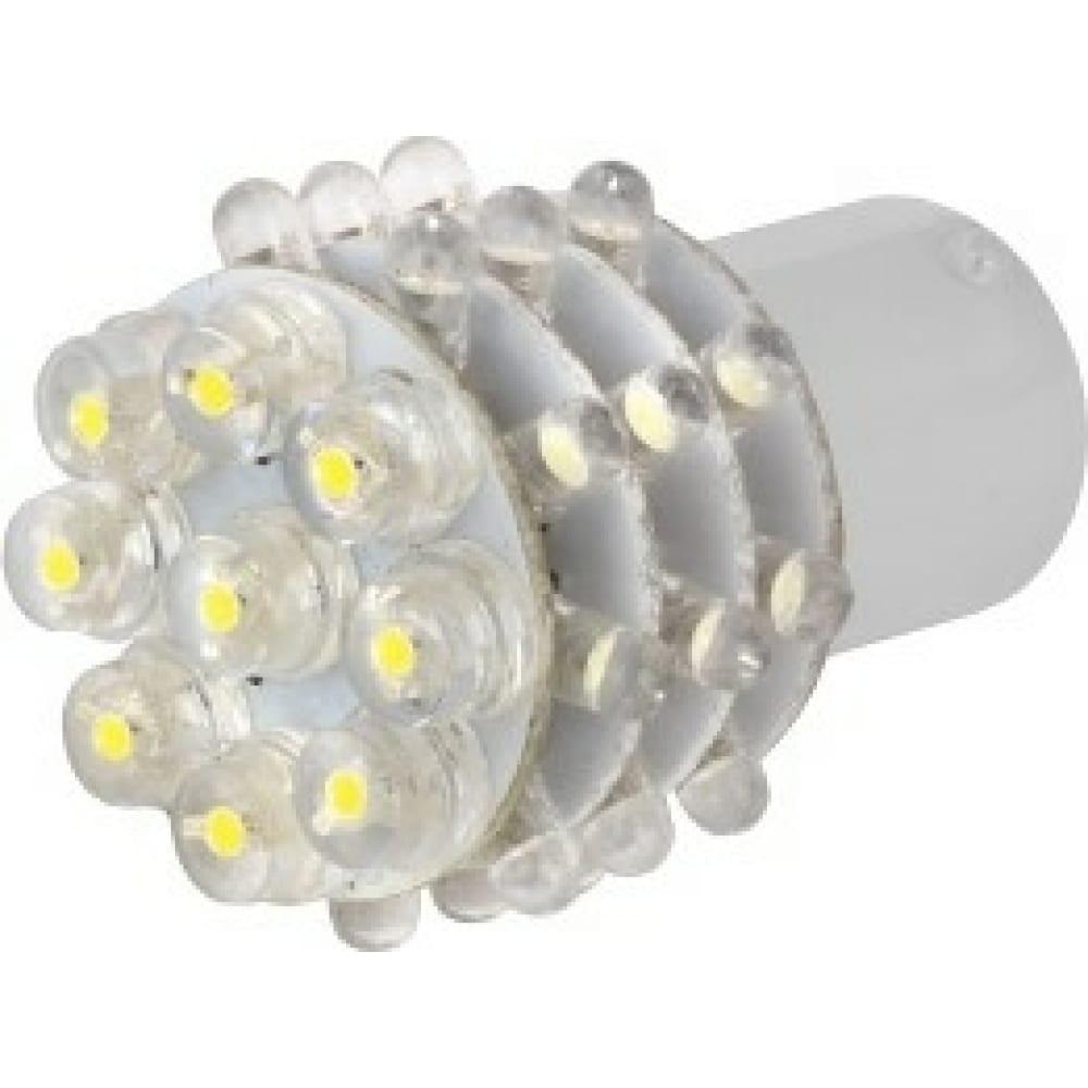 Купить Автолампа диод skyway s25, 36 led диодов, 1-контактная, белая, противотуманные, стопы, задний ход s1156-36led w