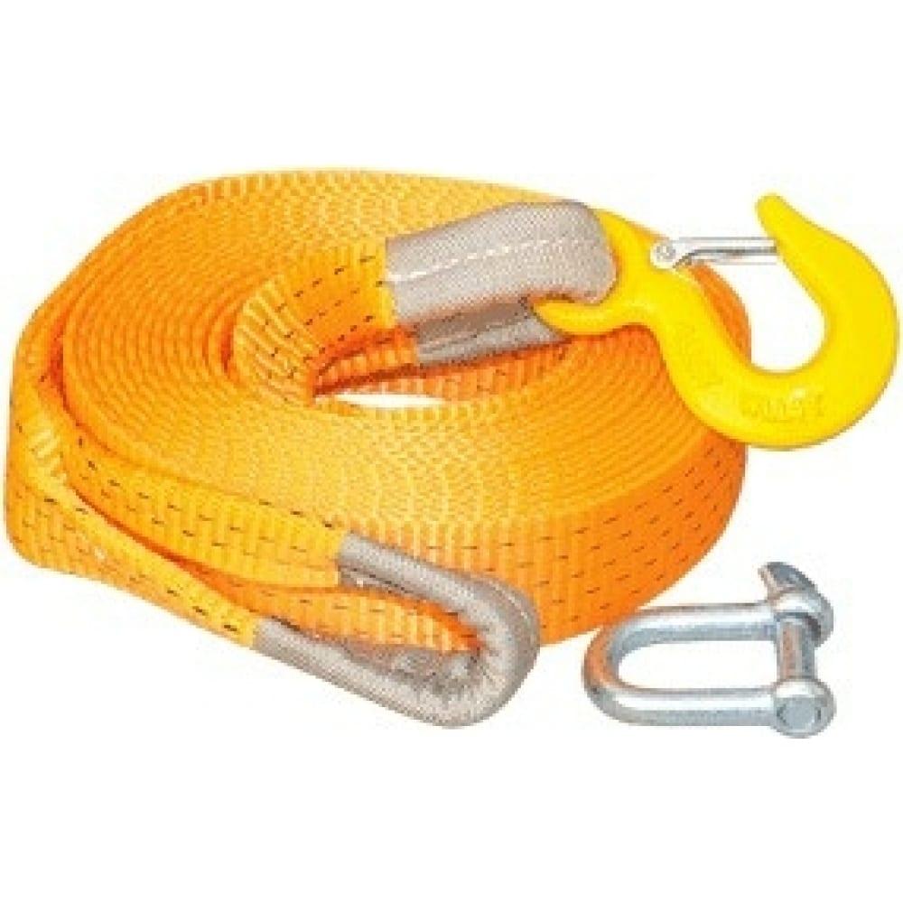 Купить Буксировочный трос автоdело крюк-крюк, лента 6 м, 13 т 44514 14792